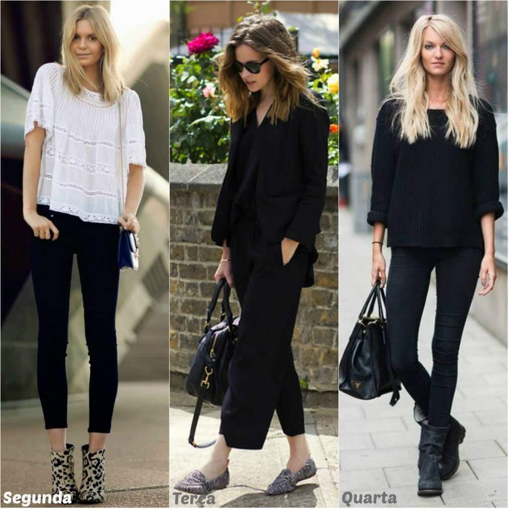 Looks para a semana toda_usando preto