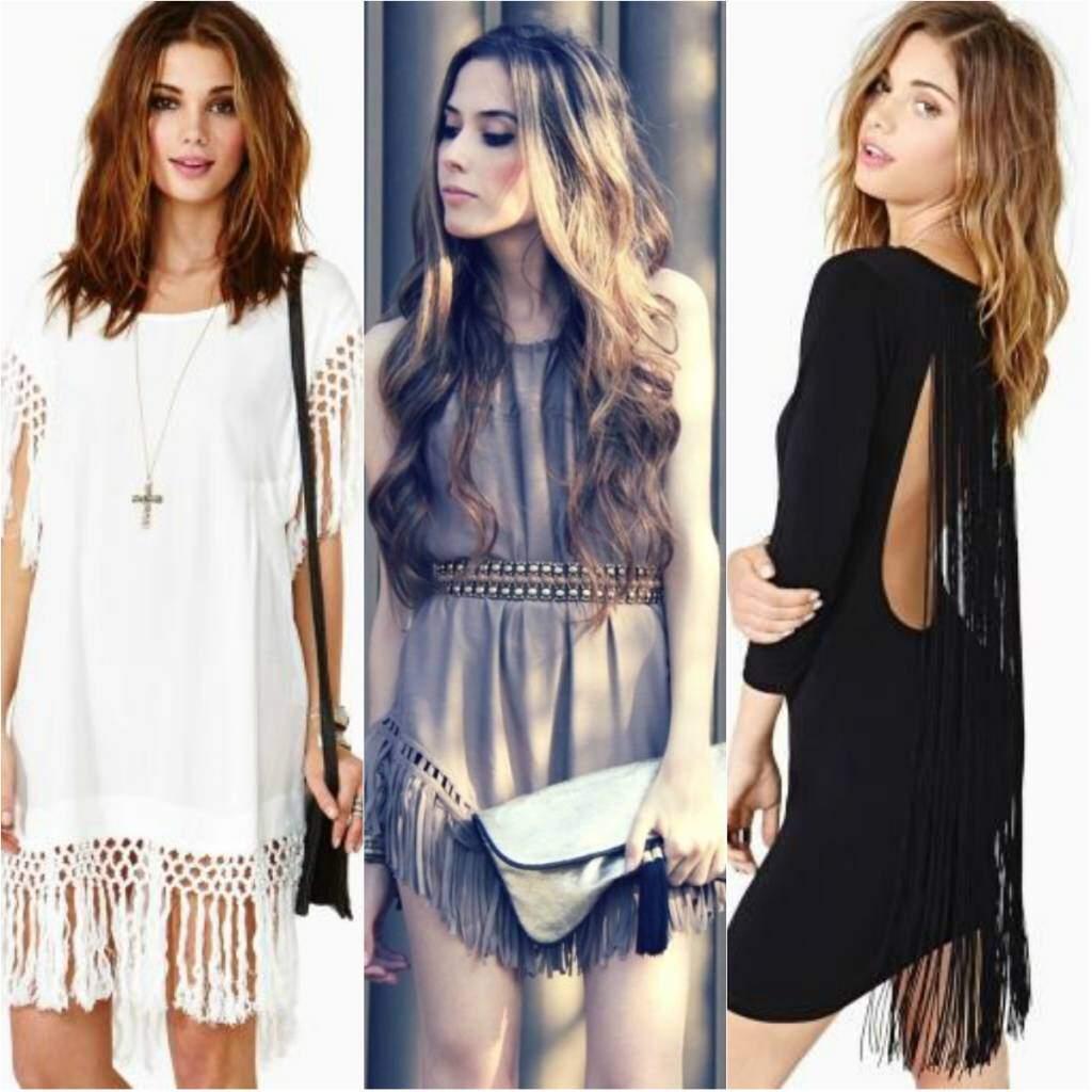 Tá na moda_vestido com franjas_elropero