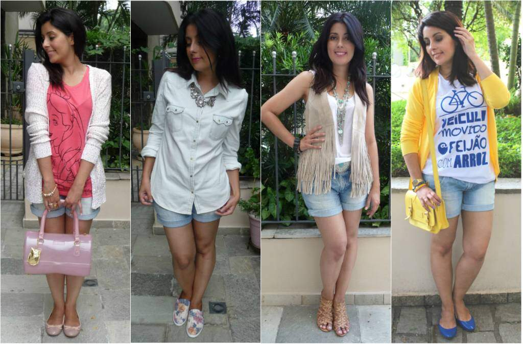 4 looks com shorts jeans_blog el ropero_juliana sena