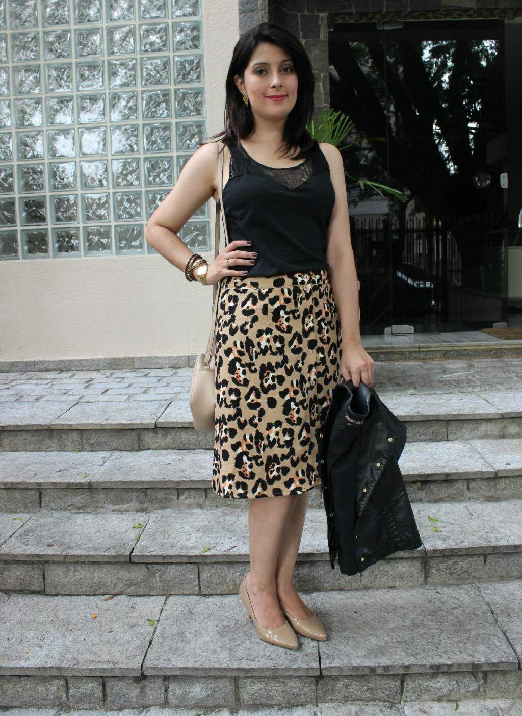1Look do dia_saia midi de oncinha_casaqueto_blog el ropero_ juliana sena