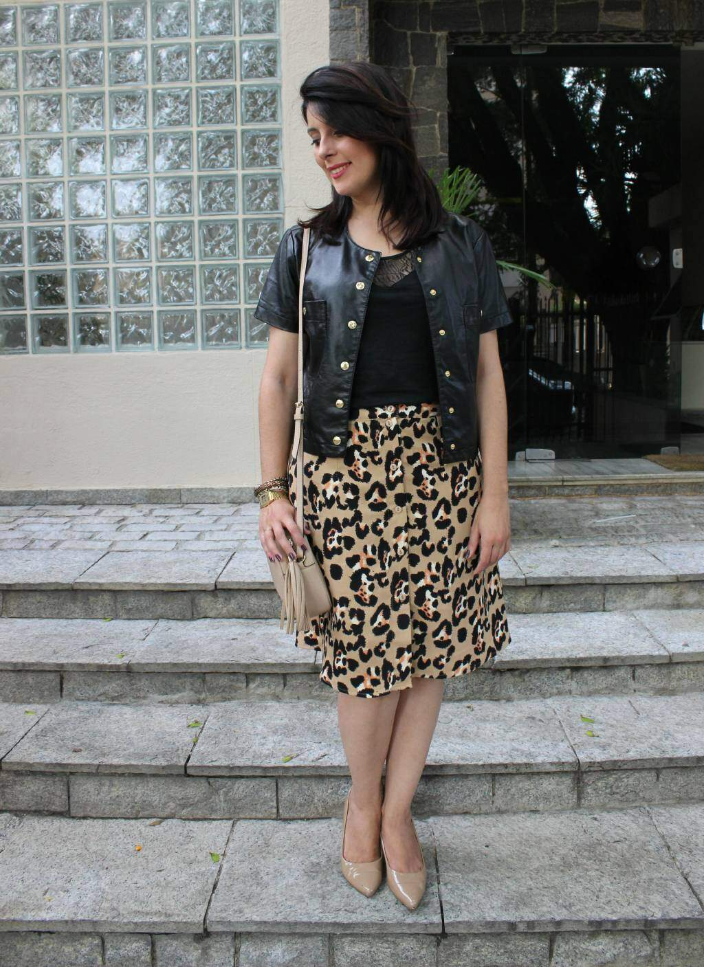 4Look do dia_saia midi de oncinha_casaqueto_blog el ropero_ juliana sena
