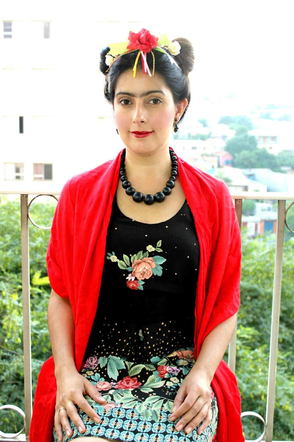 Look de carnaval_Frida Kahlo_rosto_blog el ropero