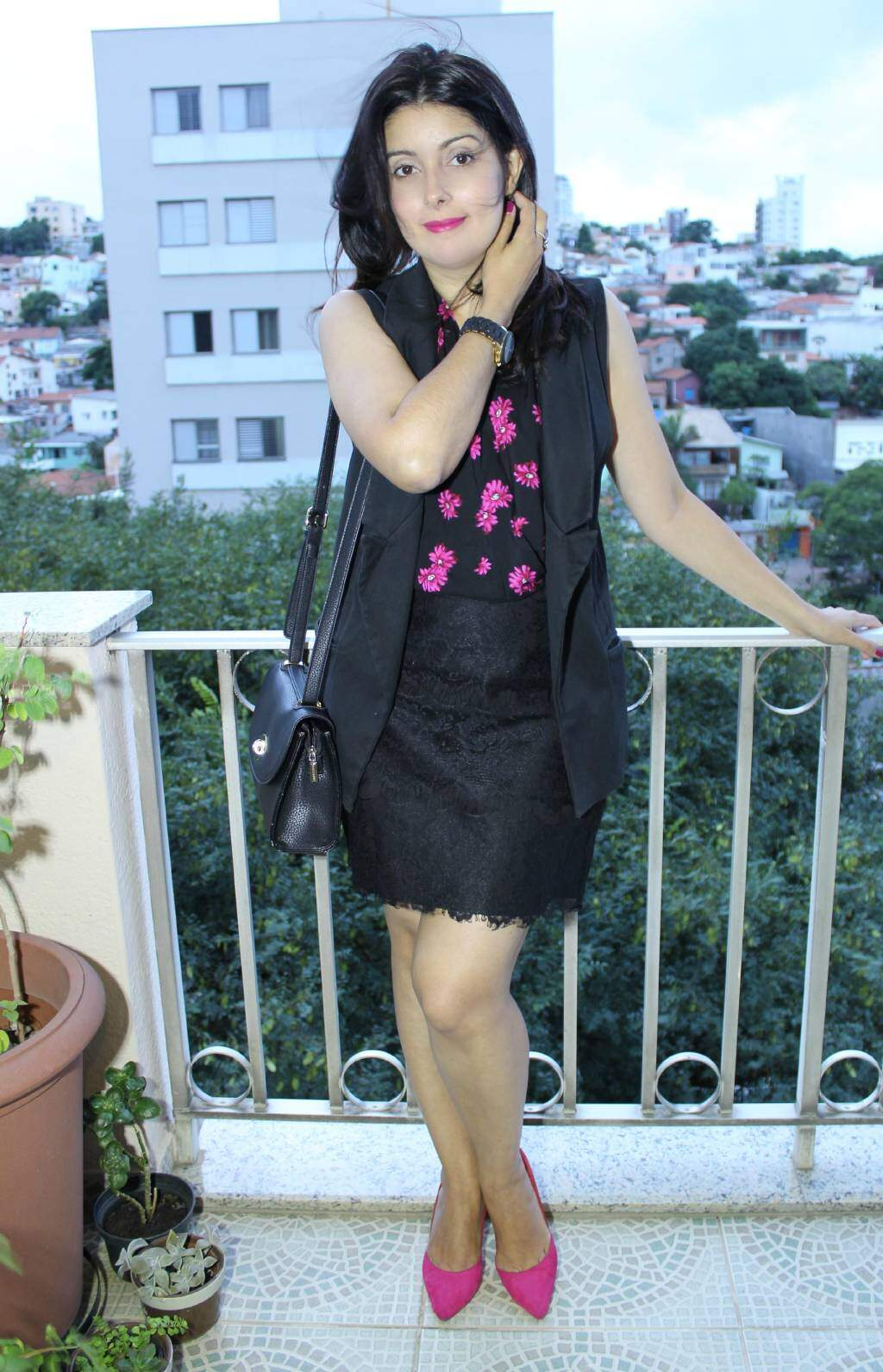 Look do dia_ colete_saia de renda_blog el ropero