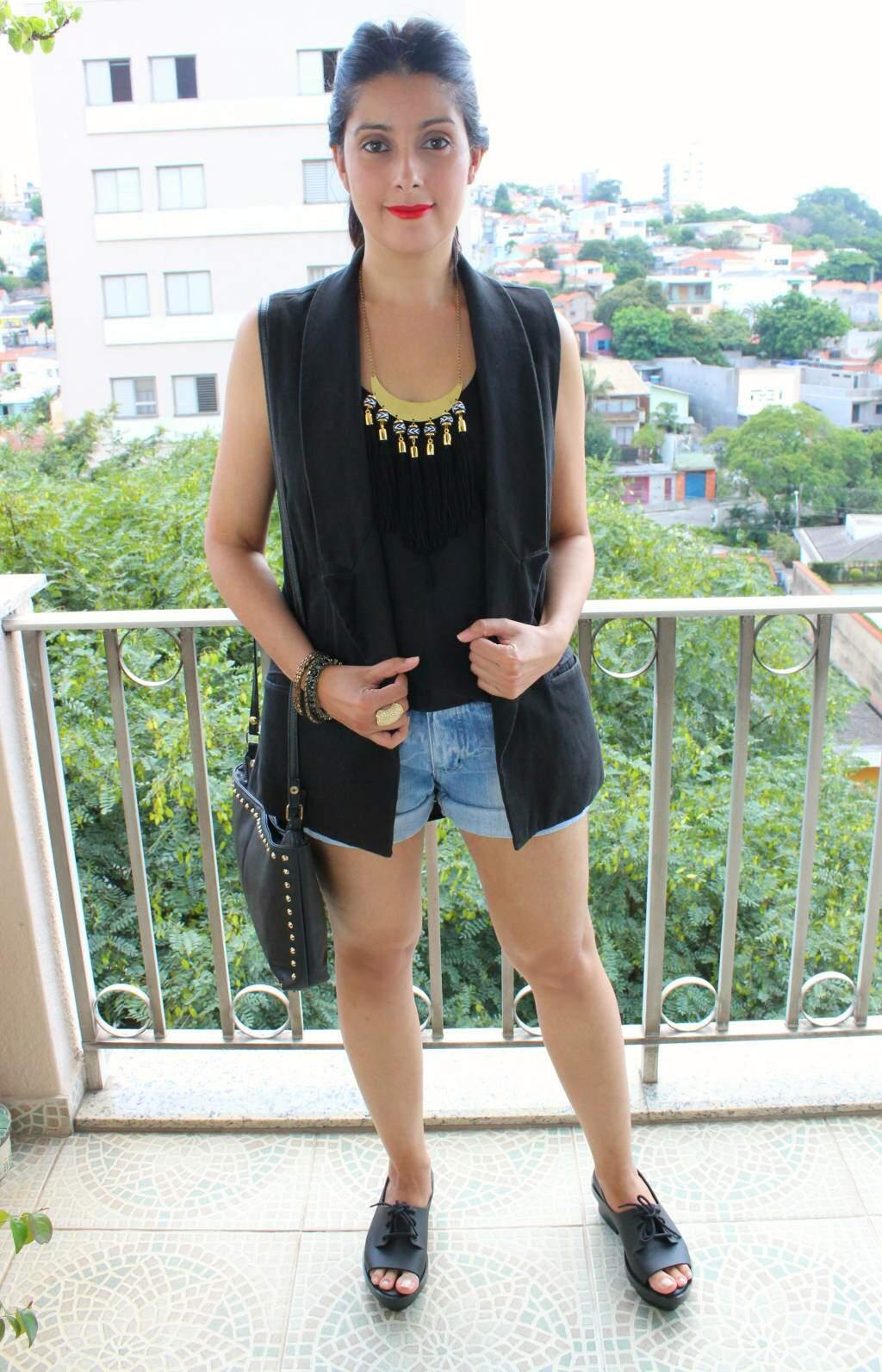 Look_desafio el ropero_colete_short jeans