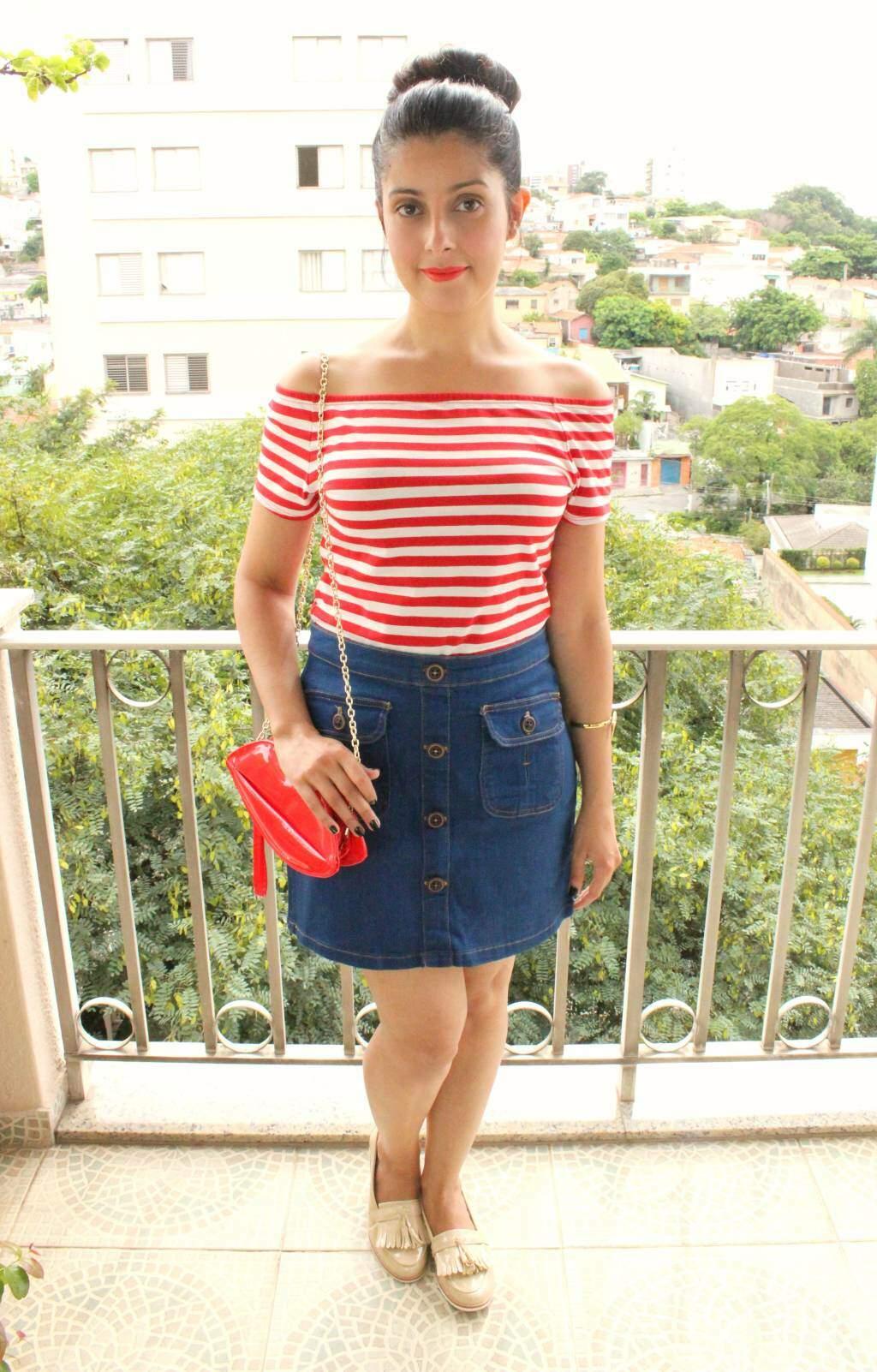 look_saia jeans com botões_listras_blog el ropero