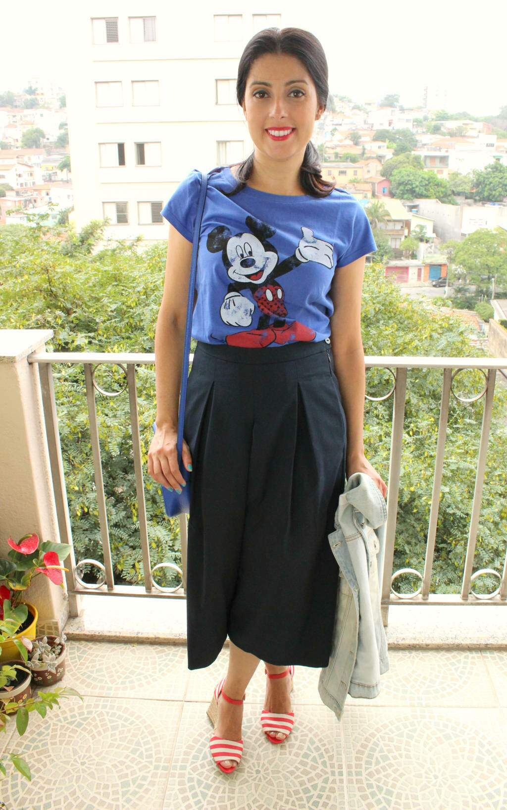 look_calça pantacourt_disney_mickey_blog el ropero
