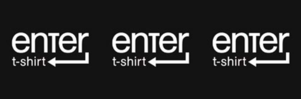 Logo da Enter t-shirt