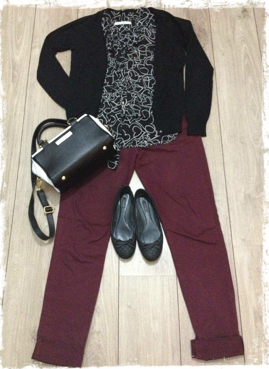 Fashion set_calça burgundy